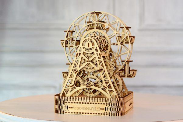WOODEN CITY 3D Mechanical Wooden Model FERRIS WHEEL 3D Puzzles